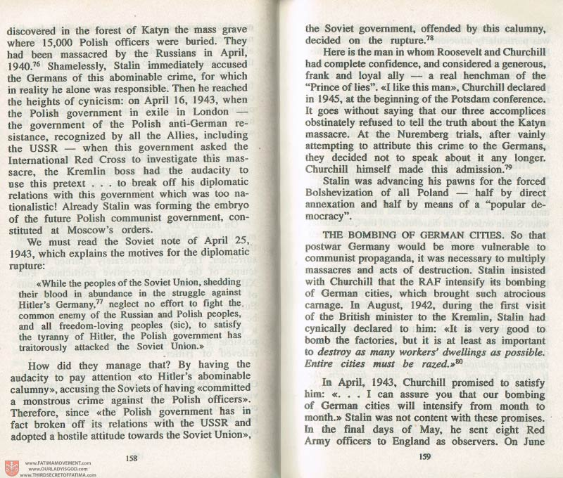 The Whole Truth About Fatima Volume 3 pages 18-159