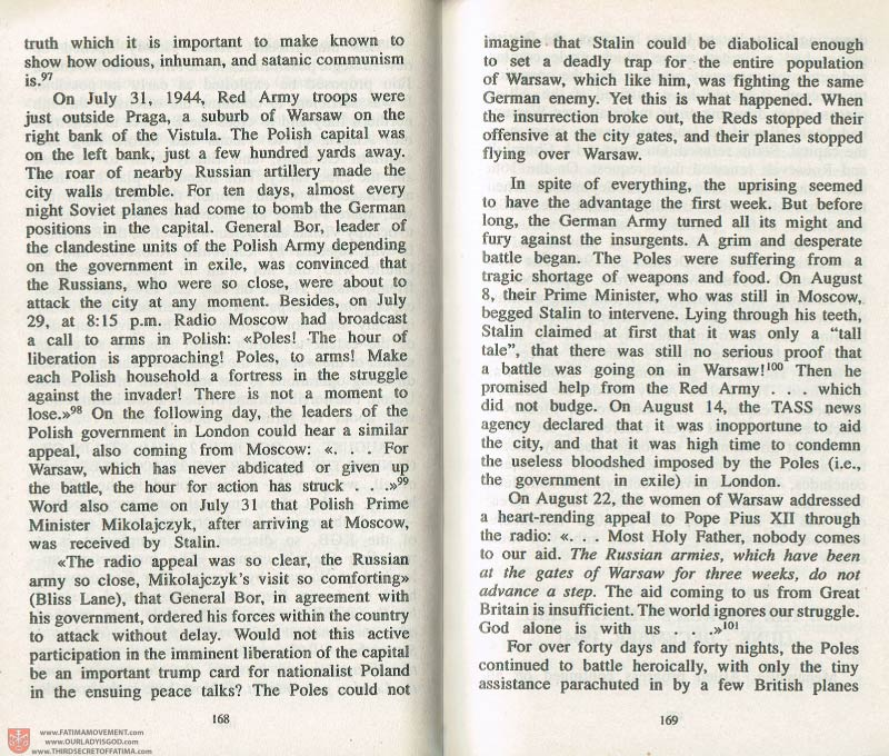 The Whole Truth About Fatima Volume 3 pages 168-169