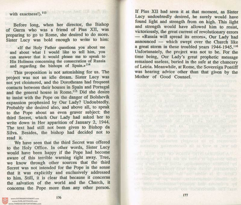 The Whole Truth About Fatima Volume 3 pages 176-177