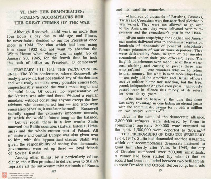 The Whole Truth About Fatima Volume 3 pages 182-183