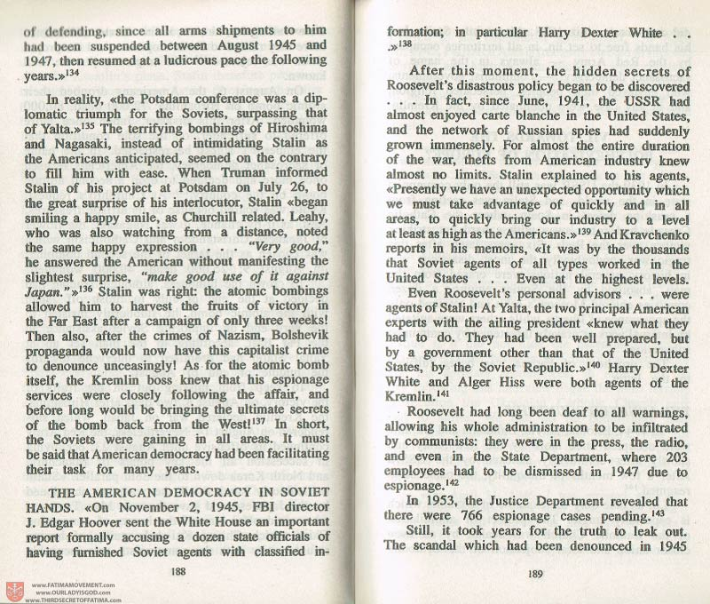 The Whole Truth About Fatima Volume 3 pages 188-189