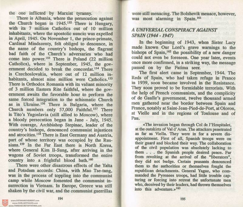 The Whole Truth About Fatima Volume 3 pages 194-195
