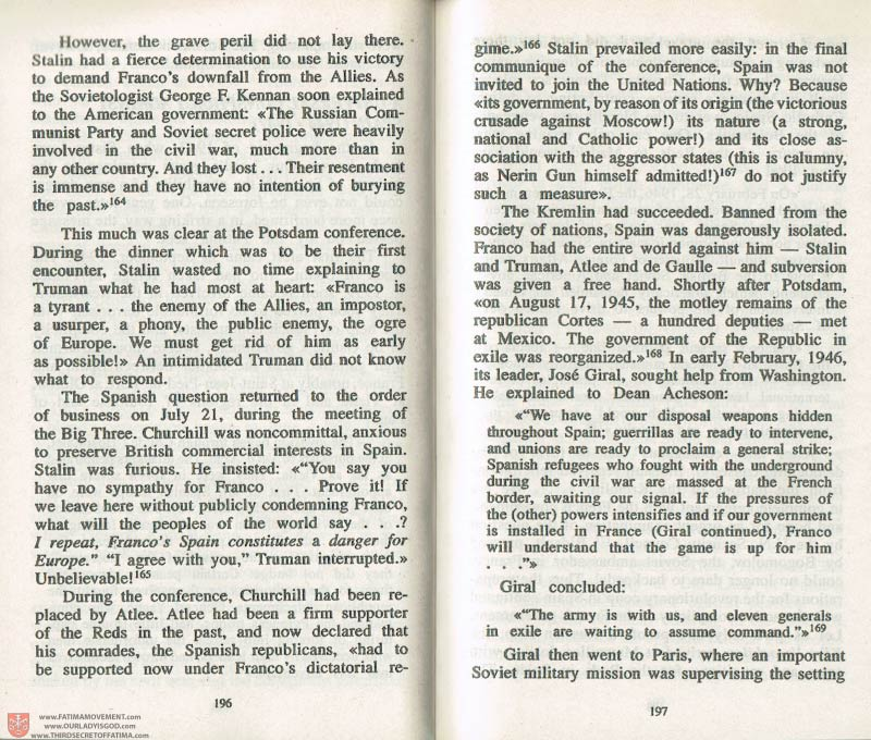 The Whole Truth About Fatima Volume 3 pages 196-197