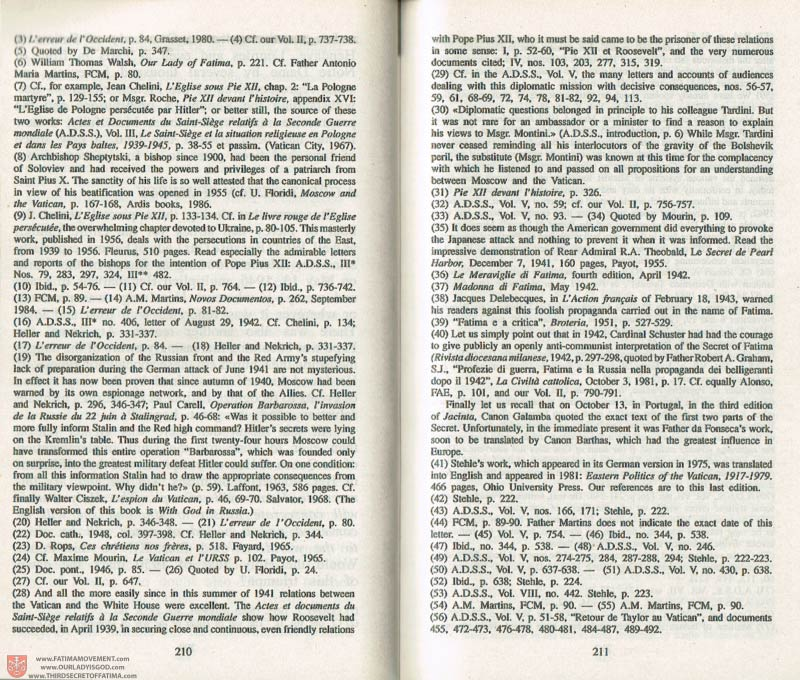 The Whole Truth About Fatima Volume 3 pages 210-211
