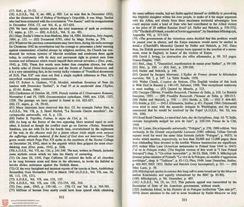The Whole Truth About Fatima Volume 3 pages 212-213