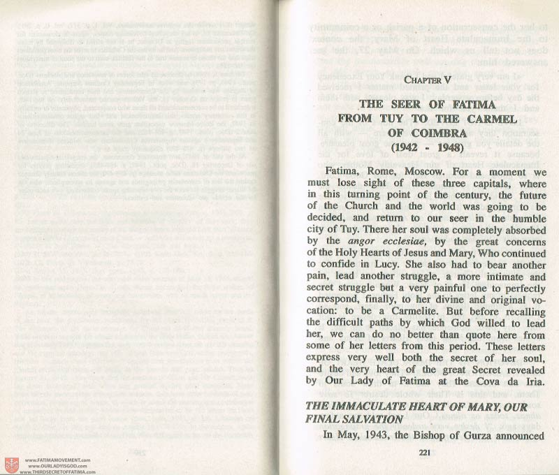 The Whole Truth About Fatima Volume 3 pages 220-221