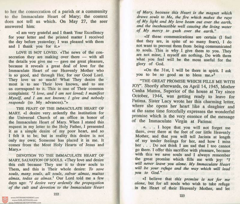 The Whole Truth About Fatima Volume 3 pages 222-223