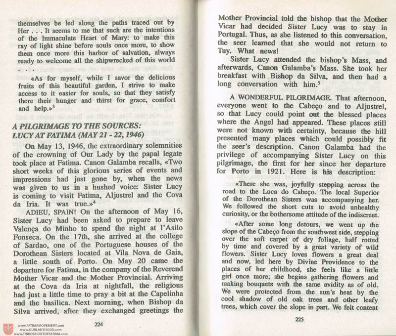 The Whole Truth About Fatima Volume 3 pages 224-225