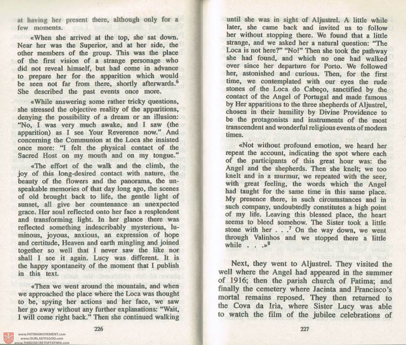 The Whole Truth About Fatima Volume 3 pages 226-227