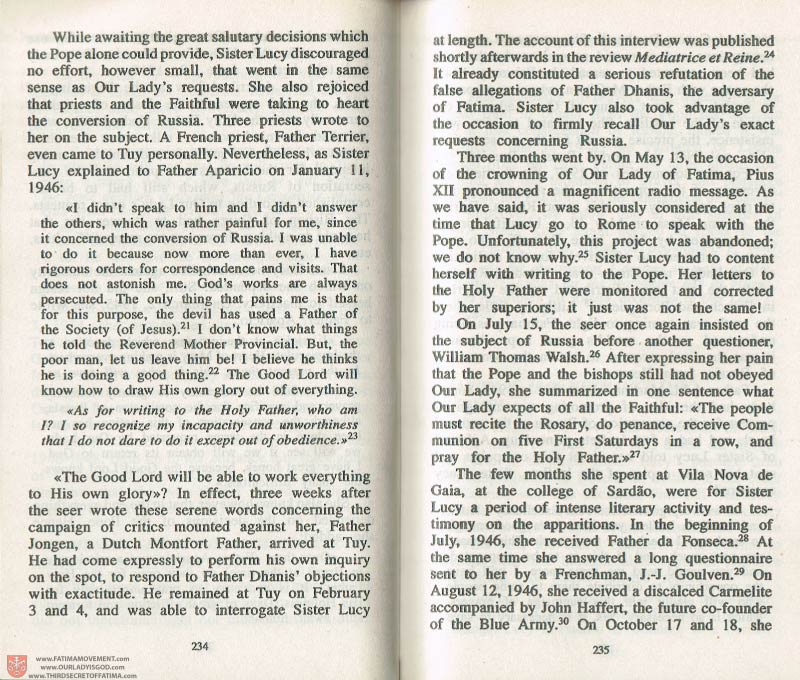The Whole Truth About Fatima Volume 3 pages 234-235
