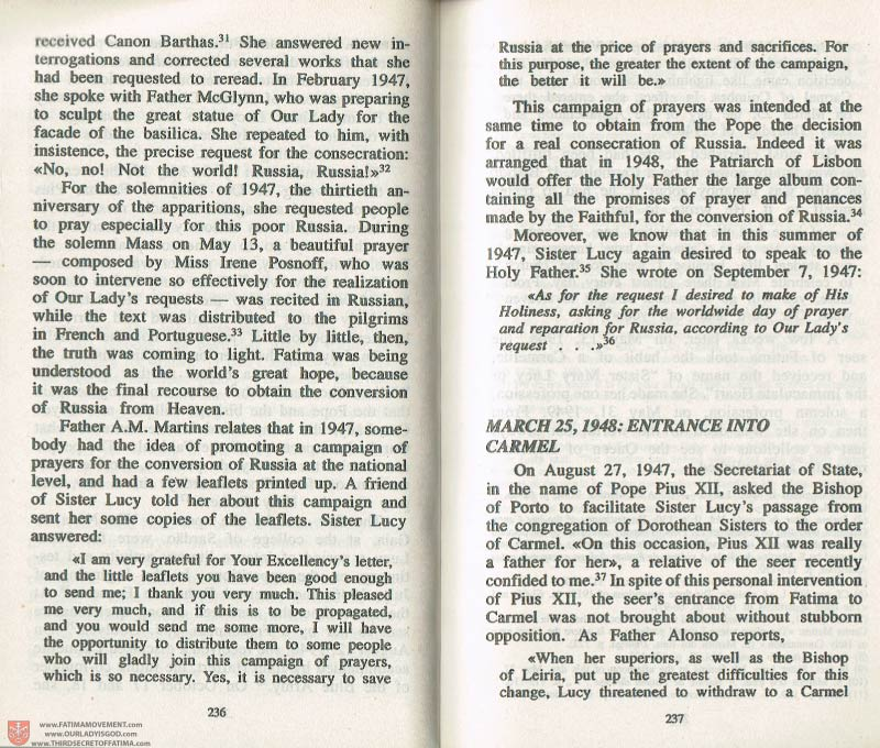 The Whole Truth About Fatima Volume 3 pages 236-237