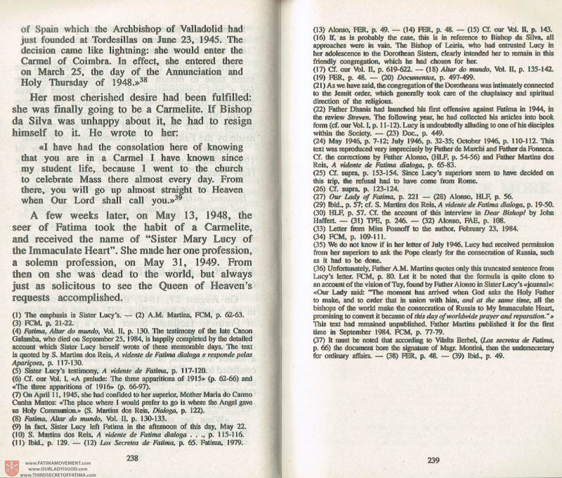 The Whole Truth About Fatima Volume 3 pages 238-239