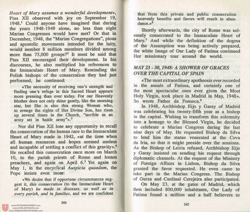 The Whole Truth About Fatima Volume 3 pages 244-245