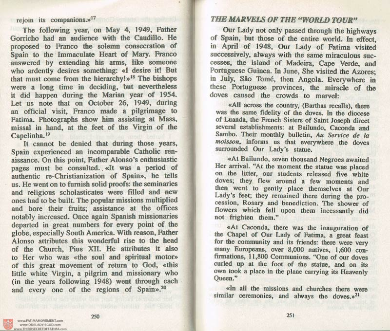 The Whole Truth About Fatima Volume 3 pages 250-251