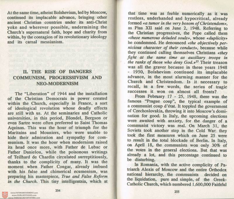 The Whole Truth About Fatima Volume 3 pages 254-255