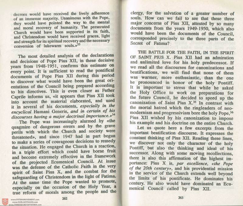 The Whole Truth About Fatima Volume 3 pages 262-263