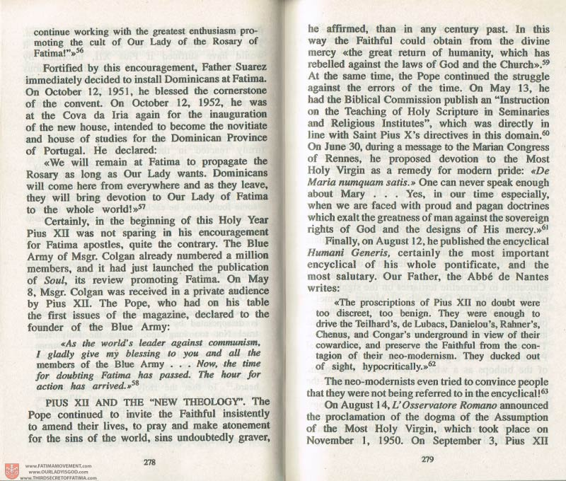The Whole Truth About Fatima Volume 3 pages 278-279