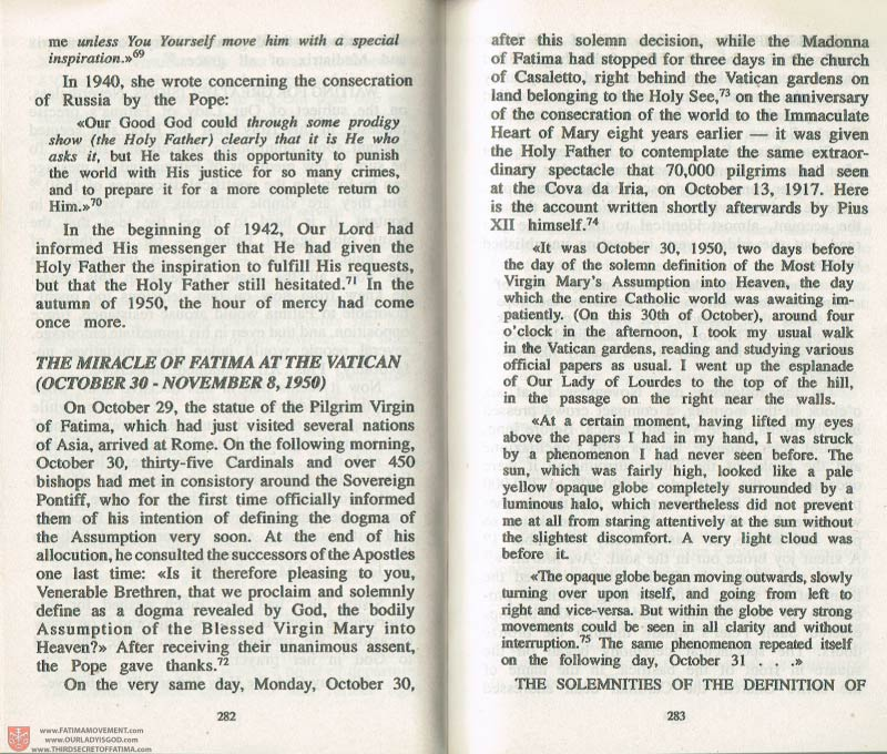 The Whole Truth About Fatima Volume 3 pages 282-283