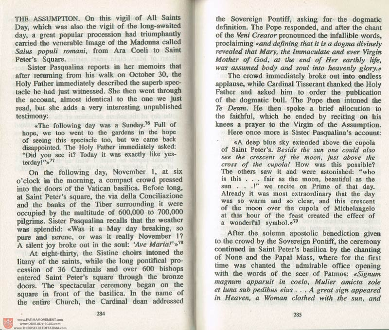 The Whole Truth About Fatima Volume 3 pages 284-285