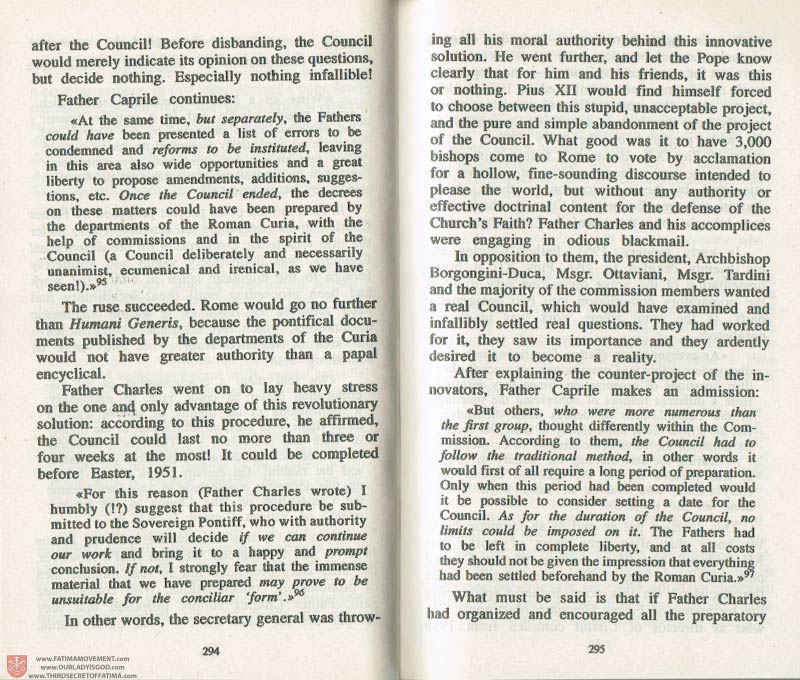 The Whole Truth About Fatima Volume 3 pages 294-295