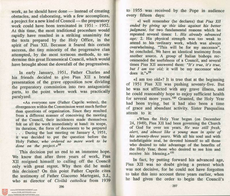 The Whole Truth About Fatima Volume 3 pages 296-297