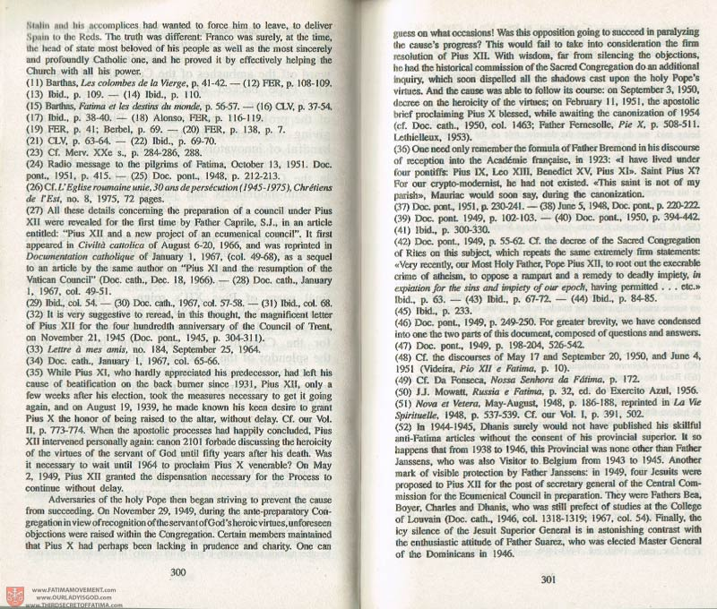 The Whole Truth About Fatima Volume 3 pages 300-301