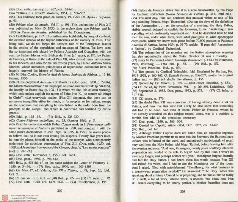 The Whole Truth About Fatima Volume 3 pages 302-303