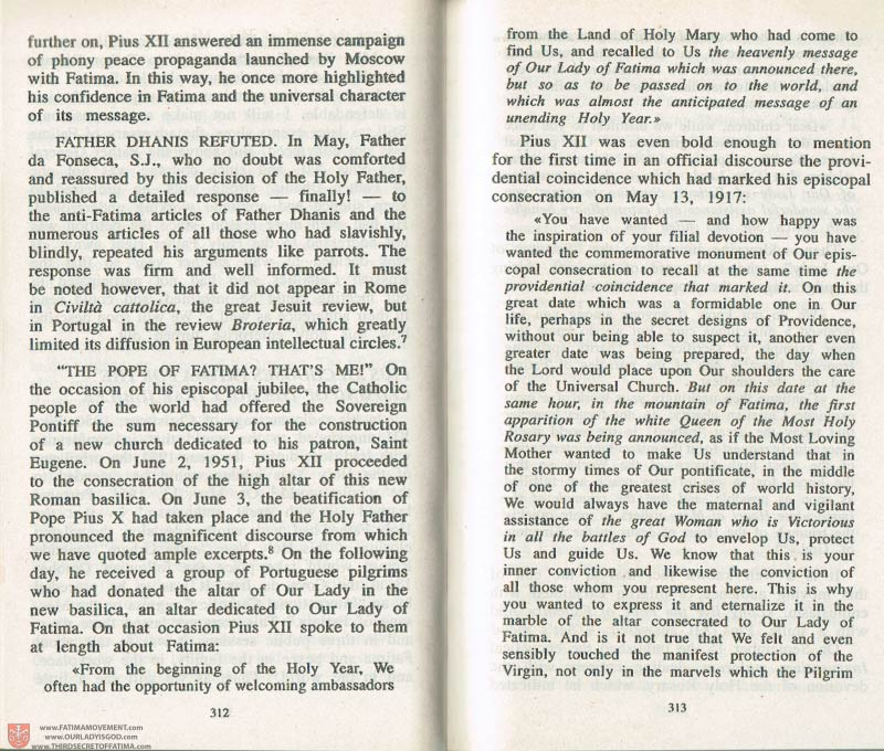 The Whole Truth About Fatima Volume 3 pages 312-313