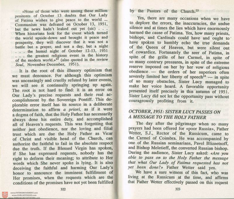 The Whole Truth About Fatima Volume 3 pages 322-323