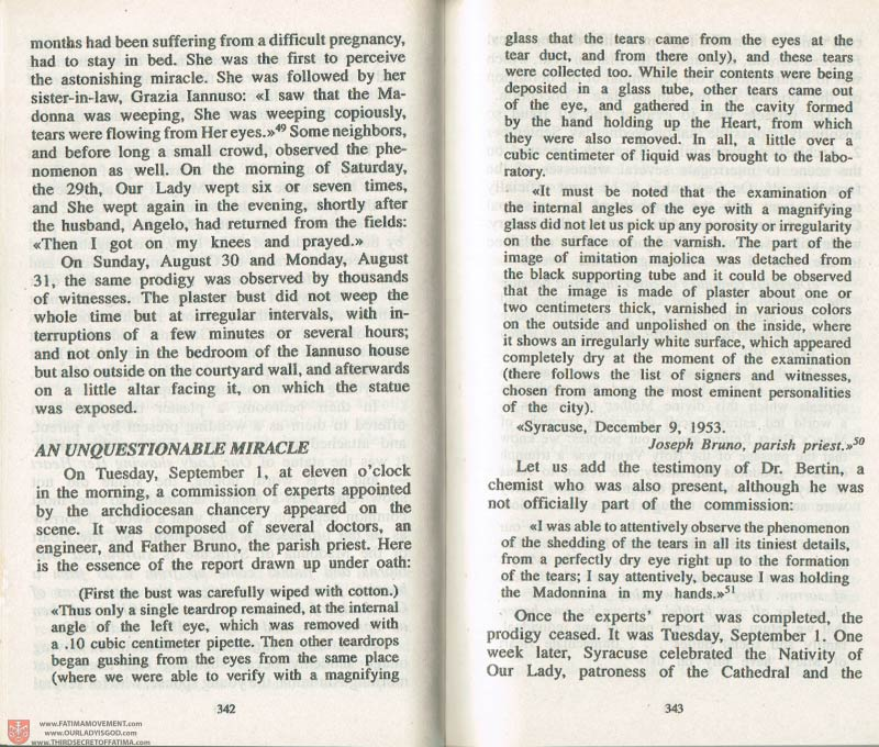 The Whole Truth About Fatima Volume 3 pages 342-343