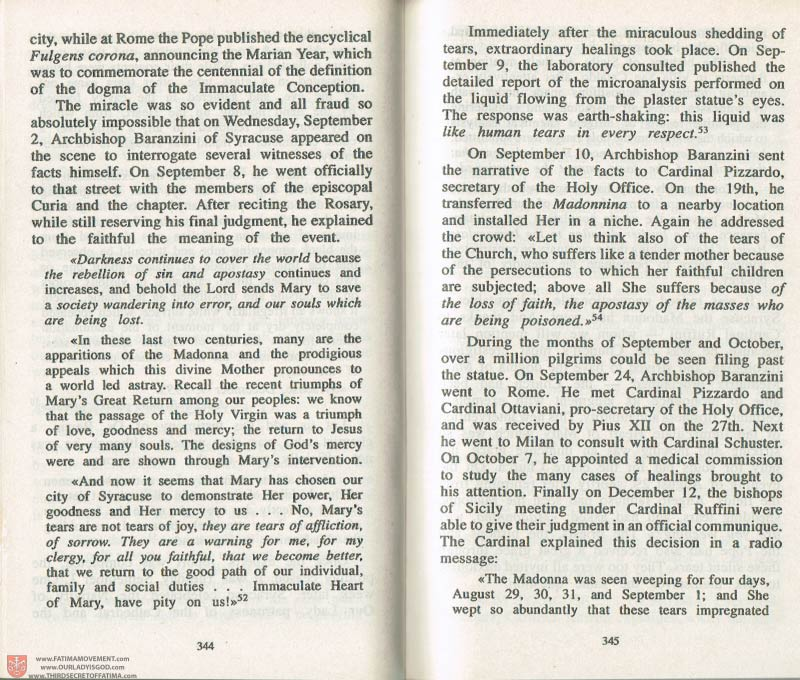 The Whole Truth About Fatima Volume 3 pages 344-345