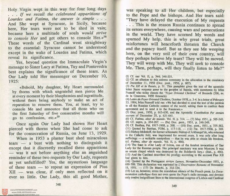 The Whole Truth About Fatima Volume 3 pages 348-349