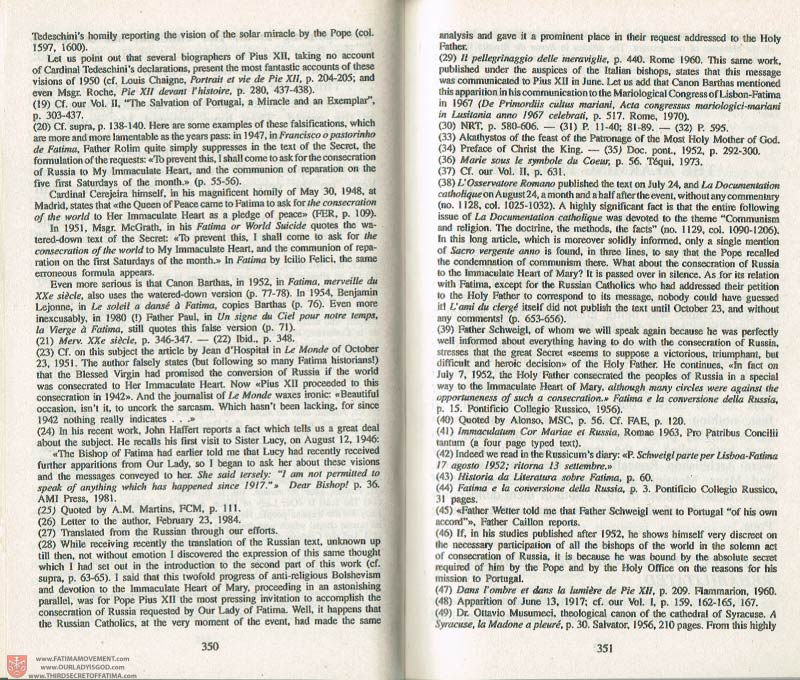 The Whole Truth About Fatima Volume 3 pages 350-351