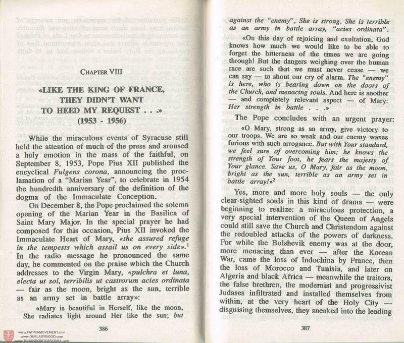 The Whole Truth About Fatima Volume 3 pages 386-387