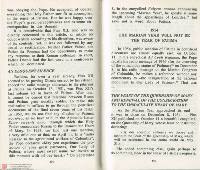 The Whole Truth About Fatima Volume 3 pages 394-395