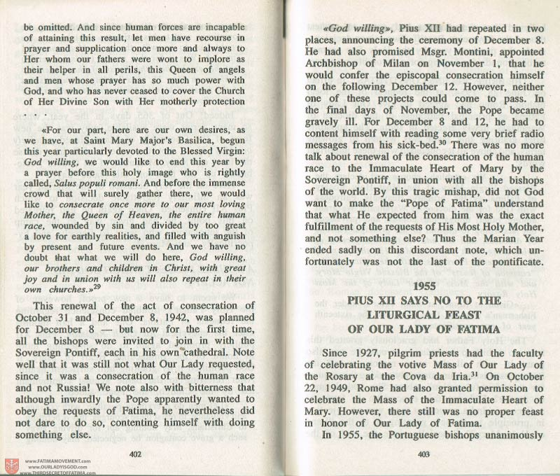 The Whole Truth About Fatima Volume 3 pages 402-403