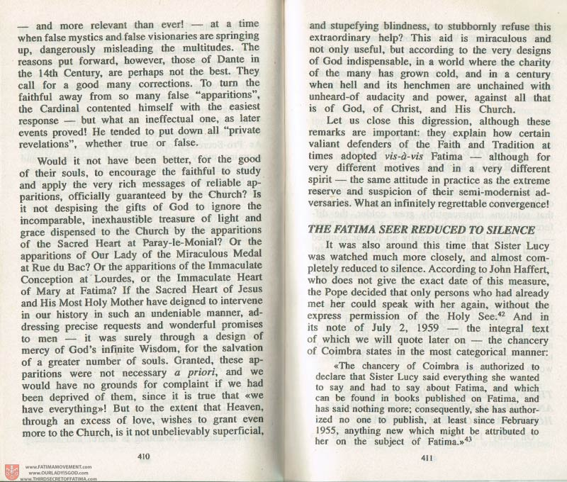 The Whole Truth About Fatima Volume 3 pages 410-411