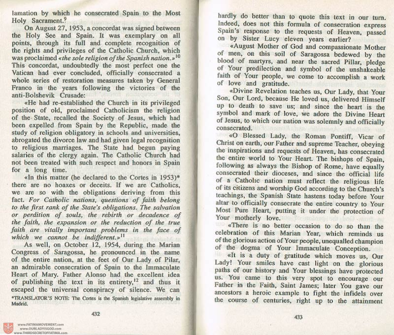 The Whole Truth About Fatima Volume 3 pages 432-433