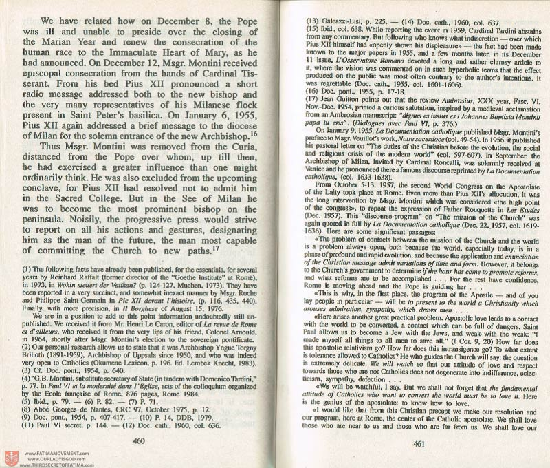 The Whole Truth About Fatima Volume 3 pages 460-461