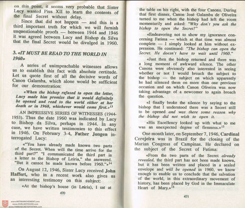 The Whole Truth About Fatima Volume 3 pages 470-471