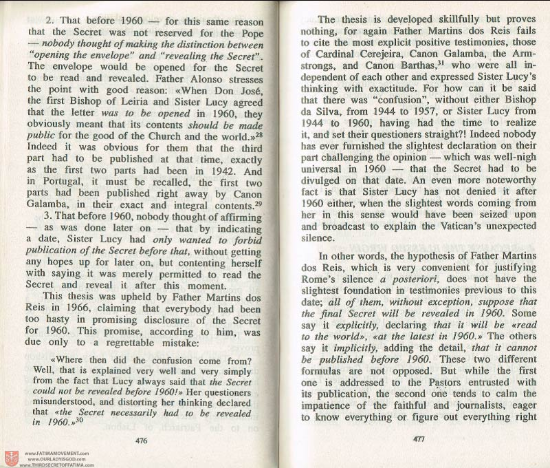 The Whole Truth About Fatima Volume 3 pages 476-477