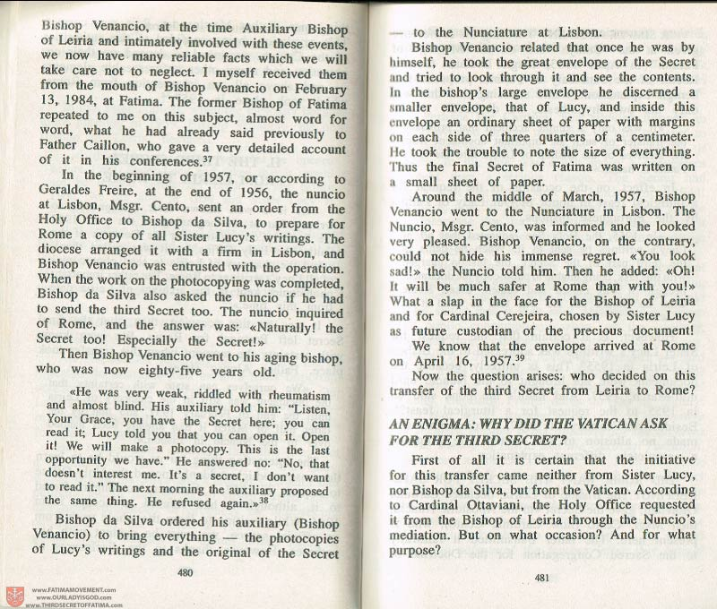 The Whole Truth About Fatima Volume 3 pages 480-481