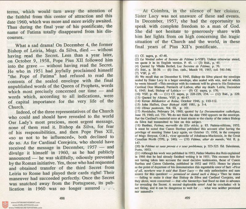 The Whole Truth About Fatima Volume 3 pages 498-499