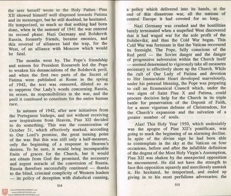 The Whole Truth About Fatima Volume 3 pages 514-515