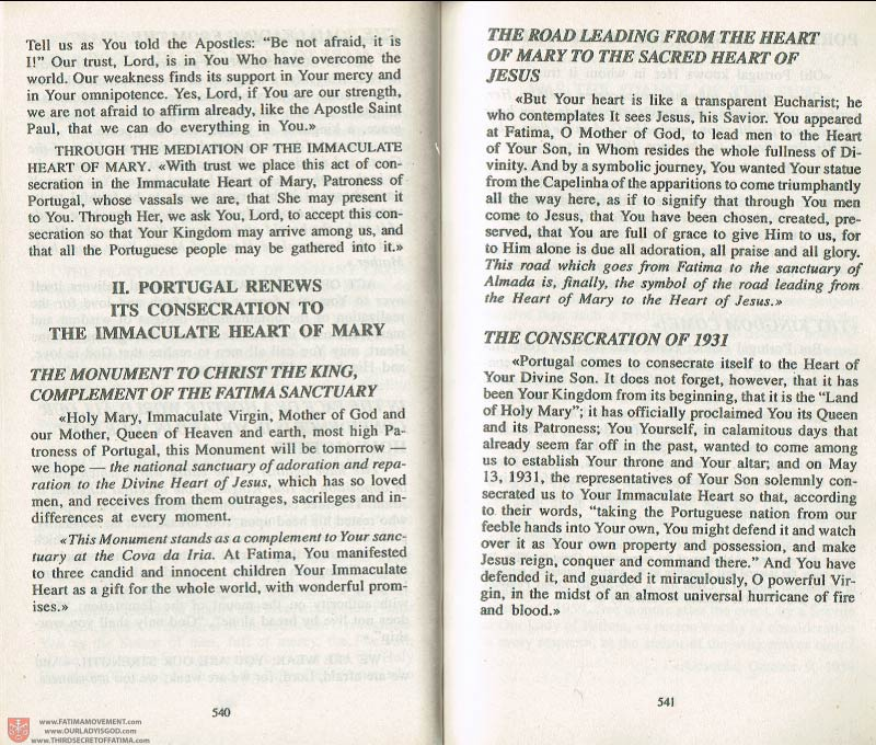 The Whole Truth About Fatima Volume 3 pages 540-541
