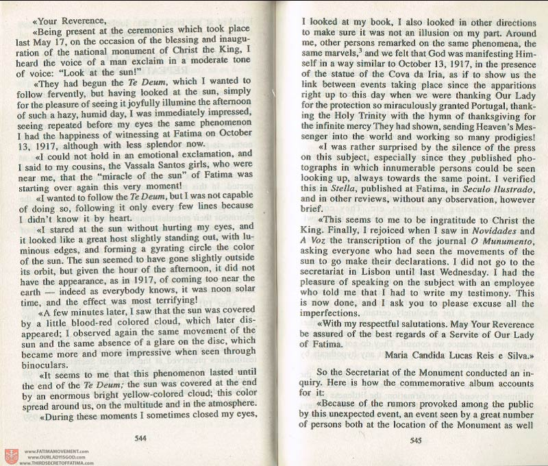 The Whole Truth About Fatima Volume 3 pages 544-545