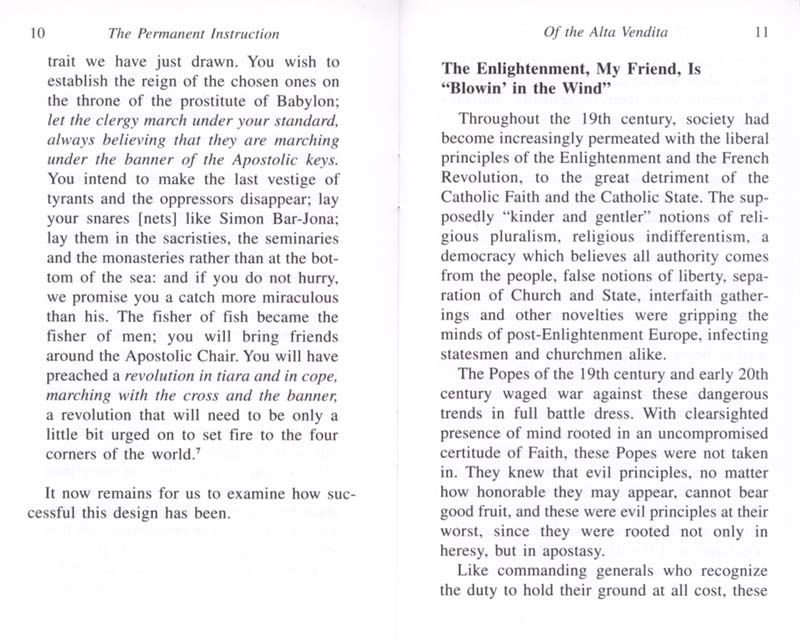The Permanent Instruction of the Alta Vendita: A Masonic Blueprint for the Subversion of The Catholic Church page 10-11