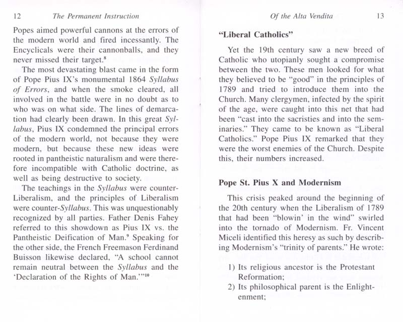 The Permanent Instruction of the Alta Vendita: A Masonic Blueprint for the Subversion of The Catholic Church page 12-13