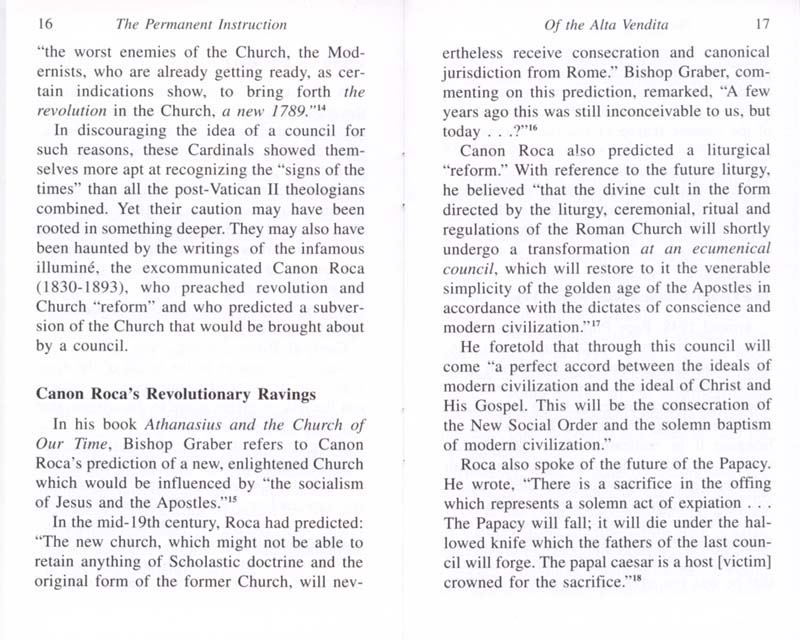 The Permanent Instruction of the Alta Vendita: A Masonic Blueprint for the Subversion of The Catholic Church page 16-17