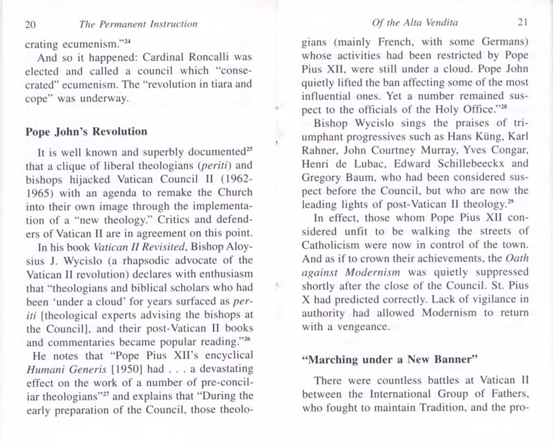The Permanent Instruction of the Alta Vendita: A Masonic Blueprint for the Subversion of The Catholic Church page 20-21